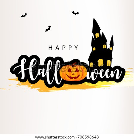 Happy Halloween, Easy to Edit, Vector Illustration, Halloween Background.