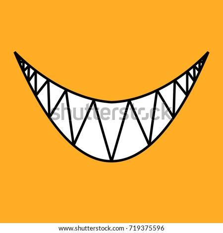happy halloween evil smile on