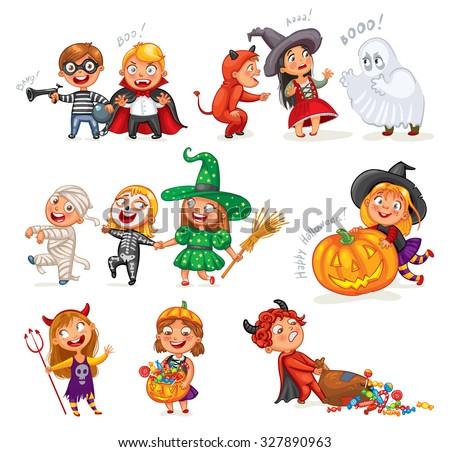 happy halloween funny little