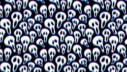Happy halloween ghost face scream seamless pattern.