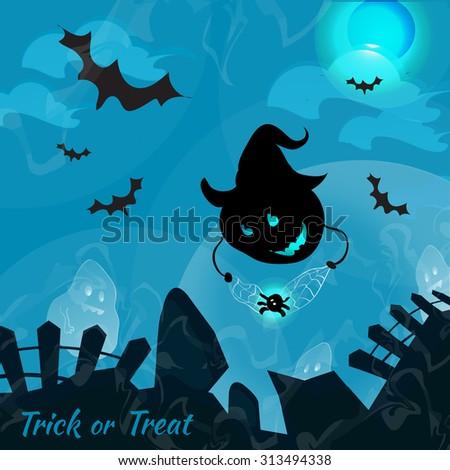 happy halloween   graveyard