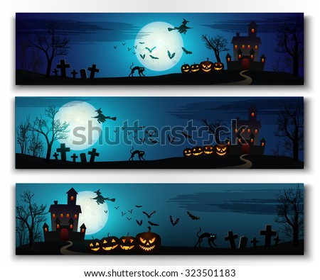 happy halloween horizontal