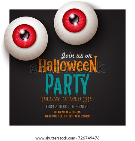 Happy Halloween invitation card
