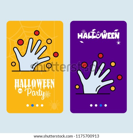 Happy Halloween invitation design with hand vector