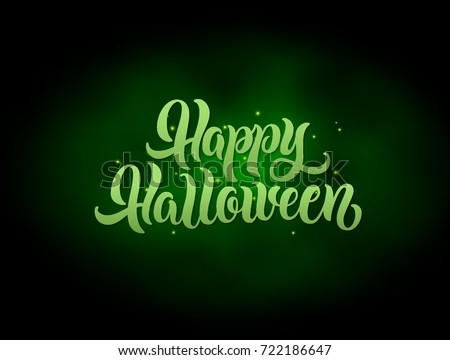 happy halloween lettering text