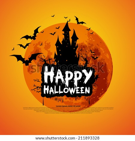 happy halloween message design