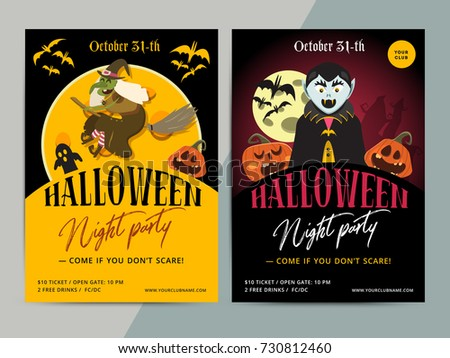 happy halloween party poster template design all hallow eve flyer