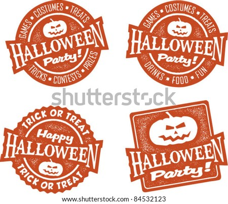 Happy Halloween Party Stamps