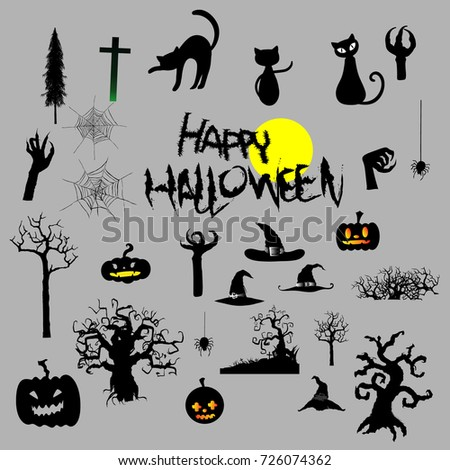 Happy halloween party, Vector illustration.