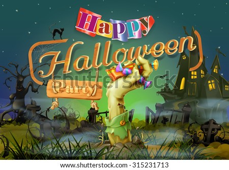 happy halloween party  zombie