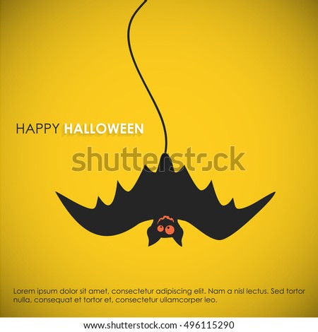 Happy Halloween. Poster, banner or background for Halloween Party Night.