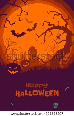 happy halloween poster of
