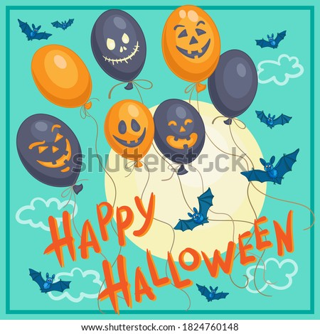 happy halloween poster with