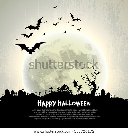 happy halloween sign and theme