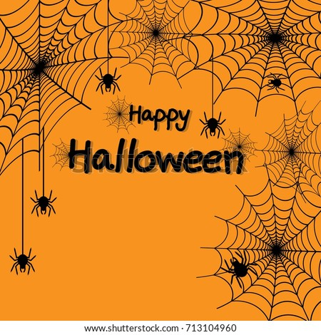 happy halloween spider web and