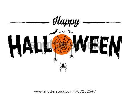 happy halloween text banner