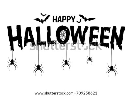 Shutterstock Happy Halloween Text Banner, Vector