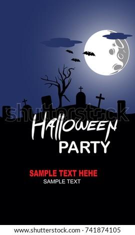 Happy Halloween Vector illustration #741874105