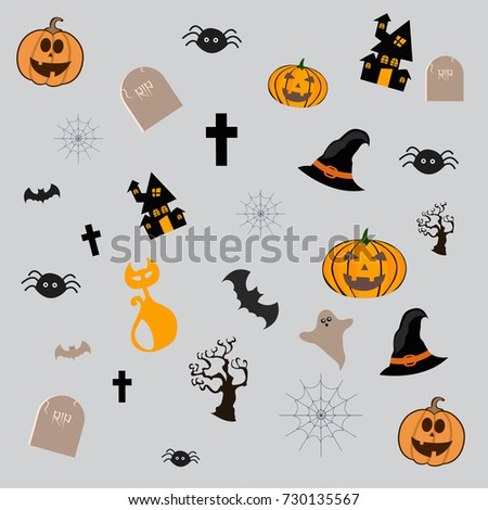 Happy Halloween Vector illustration,Trick or treat