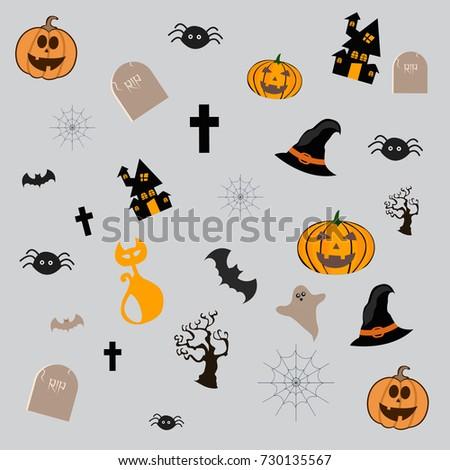 Happy Halloween Vector illustration,Trick or treat