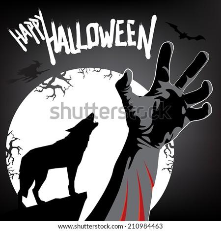 happy halloween werewolf attack