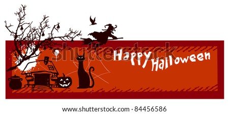 happy halloween with scary elements
