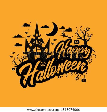 Happy hallowen party celebration invitation Stock photo ©