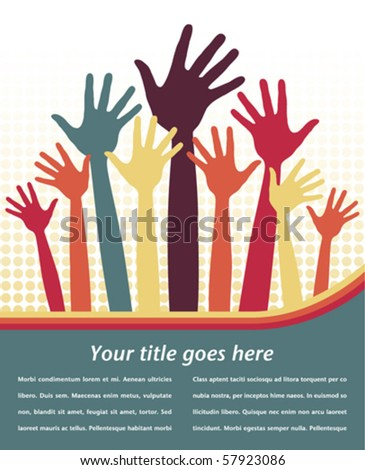 Happy hands design vector.