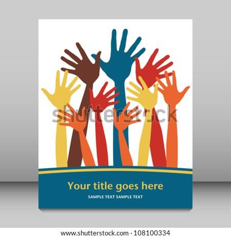 Happy hands leaflet design.
