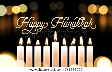 Free hanukkah blured vector download free vector art stock happy hanukkah candle lights bokeh and golden calligraphy text for jewish holiday greeting card design m4hsunfo