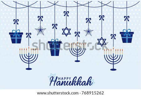 Free happy hanukkah vector download free vector art stock happy hanukkah greeting card or background vector illustration m4hsunfo