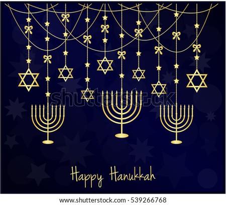 Happy hanukkah illustration download free vector art stock happy hanukkah greeting card vector illustration m4hsunfo