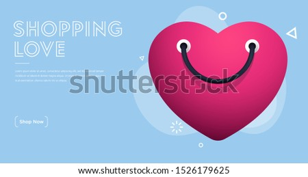 happy hearts with shopping bag