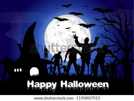 Happy helloween. Vector illustration.