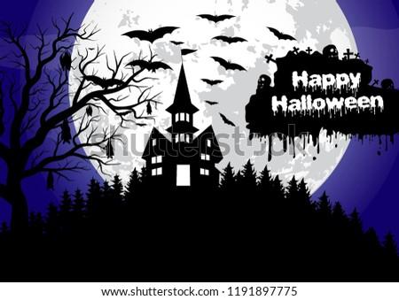Happy helloween. Vector illustration