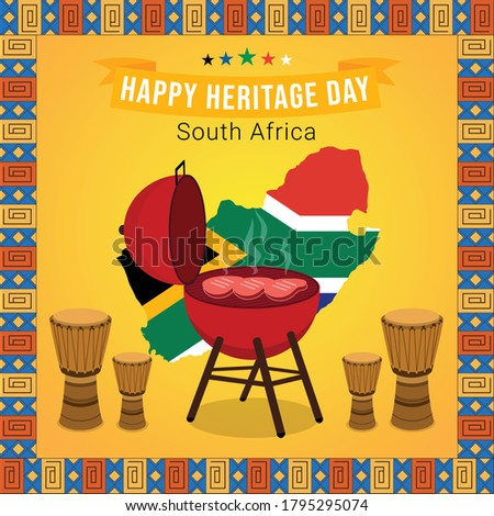 Happy heritage day south africa illustration
