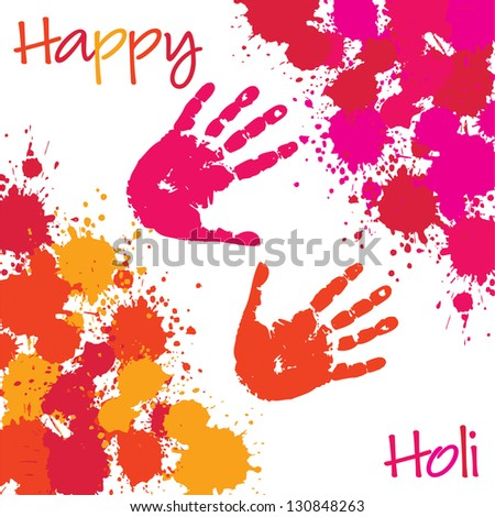 Happy Holi card in vector format.
