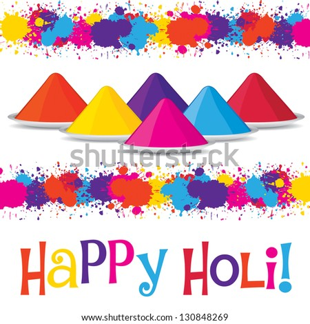 Happy Holi card in vector format.