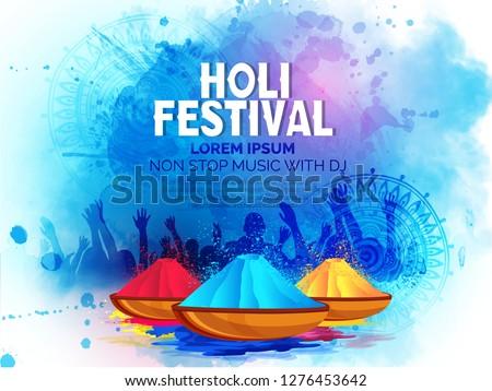 Happy Holi celebration ,Indian Festival of Colours