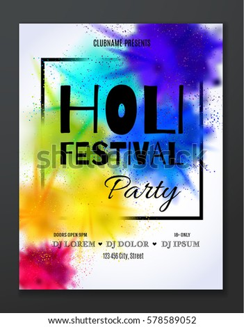 happy holi festival party