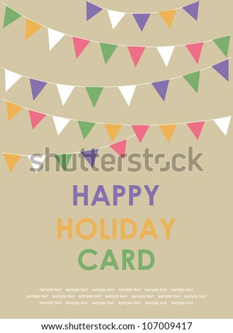 happy holiday card. vector illustration