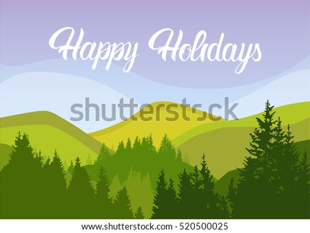 happy holiday summer landscape