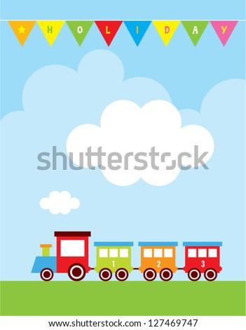 happy holiday train message