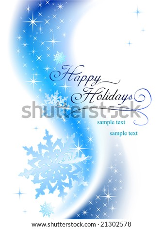 happy holidays - stock vector