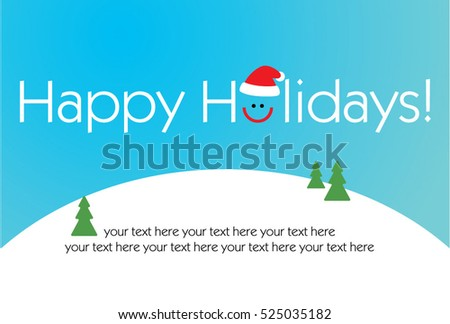 Happy holidays design with smile and santa hat. vector illustration