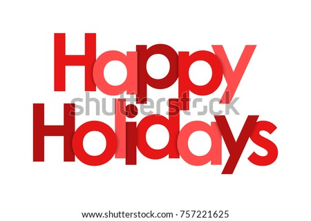 Happy Holidays on white background