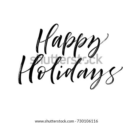 happy holidays phrase greeting
