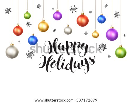Happy Holidays Christmas Postcard - Download Free Vector Art, Stock ...