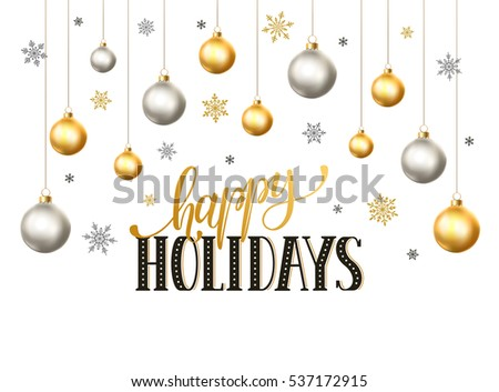 happy holidays seasonal greeting for christmas and new year ...