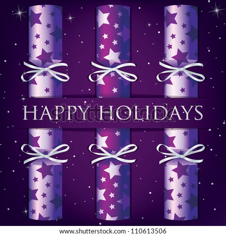 purple happy holidays pictures